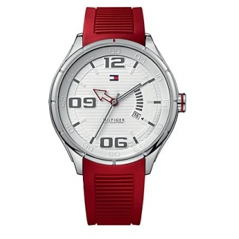 Photo of the Tommy Hilfiger Sport Stainless Steel Red Silicone's Men's Watch 1790804